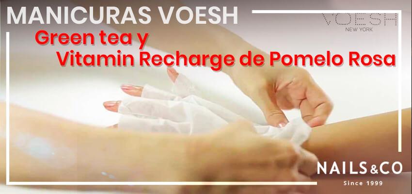 Tratamiento de manos de VOESH: Green Tea y Vitamin Recharge de Pomelo Rosa